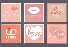 Cartões vetoriais do dia dos namorados vetor