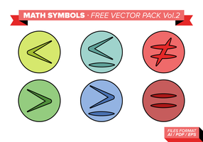 Símbolos de matemática Free Vector Pack Vol. 2