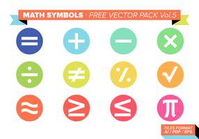 Símbolos de matemática Free Vector Pack Vol. 5