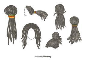 Vetor de penteado de dreadlocks