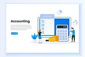 página inicial do conceito de contabilidade vetor
