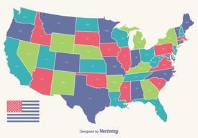 Mapa livre do vetor do vetor EUA