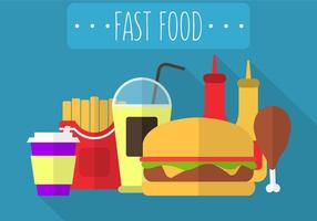 Fast Food no vetor