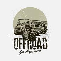 design de grunge de veículo off-road vetor