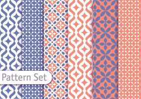 Conjunto de padrões árabes coloridos vetor
