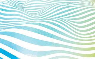 design de listras onduladas em aquarela vetor
