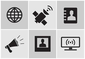 Ícones de comunicação no vetor