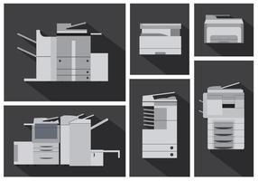 Conjunto de vetores de máquinas fotocopiadoras