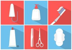 Conjunto de vetores de elementos sanitários