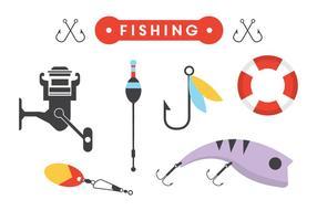 Acessórios de pesca no vetor