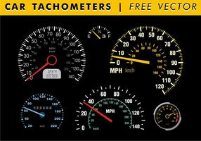 Tachometros de carros Vector grátis