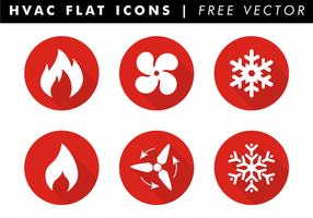 Hvac flat icons free vector