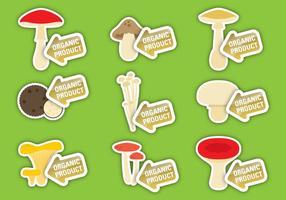 Vetores de etiqueta de cogumelos