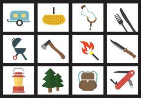 Conjunto de vetores de elementos de acampamento