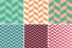 Conjunto de vetores de padrões Herringbone