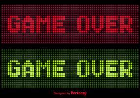 Pixel Game Over Vetores de mensagens