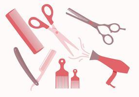 Vetores de ferramentas de barbeiro
