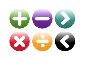Símbolos matemáticos gratuitos Vecor vetor