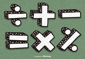 Símbolos de matemática do vetor