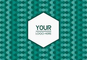 Fundo Emerald Geometric Logo gratuito