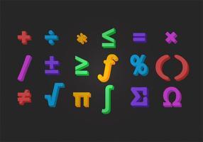 Símbolo de matemática vetorial vetor