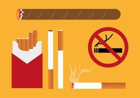 Vetor de ilustrações do pacote de cigarros