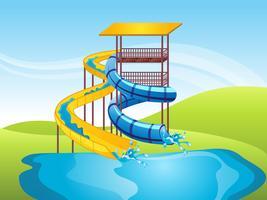 Fundo do vetor Slide de água