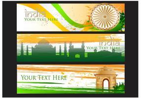 Fundo da bandeira do vetor da porta da Índia