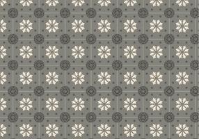 Vetor de padrão de mosaico cinza