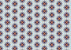 Vetor de padrão floral mosaico