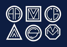 Vetor de monogramas