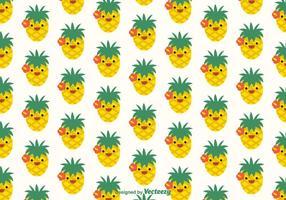 Padrão vetorial Ananas Faces grátis vetor