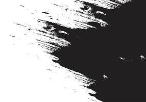 textura de pincelada manchada preta vetor