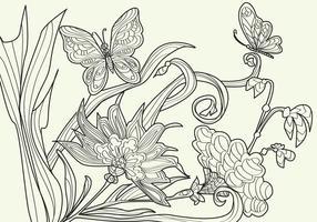 Desenho para colorir papillon para adultos vetor