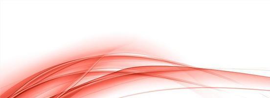 banner de onda moderna fluindo curvas vermelhas vetor