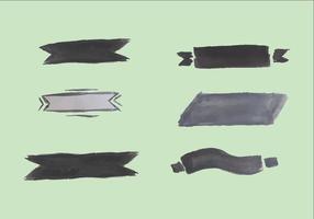 Free Gray Watercolor Banner Vector