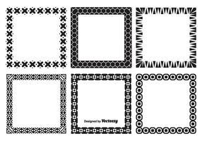 Conjunto de quadros vetoriais decorativos vetor