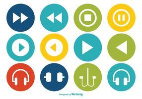 Conjunto de ícones de vetores multimídia