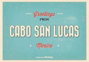 Ilustração retro do cumprimento de Cabo San Lucas vetor