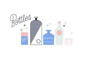 Vetor de garrafas grátis