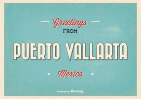Puerto Vallarta México Greeting Illustration vetor