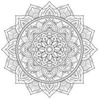 mandala circular da flor vetor