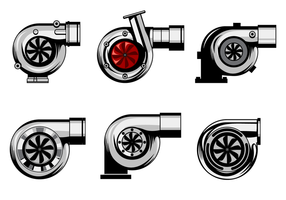Vetor livre de turbocompressor