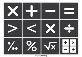 Conjunto de símbolo do vetor de matemática