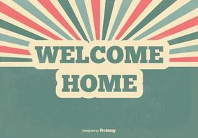 Retro welcome home vector illustration
