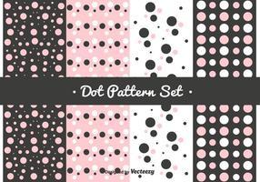 Conjunto de padrões de pontos cor-de-rosa vetor