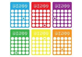 Cartão clássico de bingo vetor