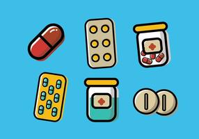Vetor caixa de pílulas