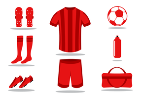 Vector de kit de futebol gratuito