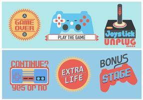 Etiqueta retro do jogo video